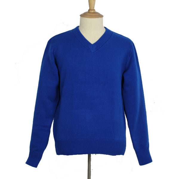 bust custom closet  Royal Blue Pullover Sweater - Classic Designs